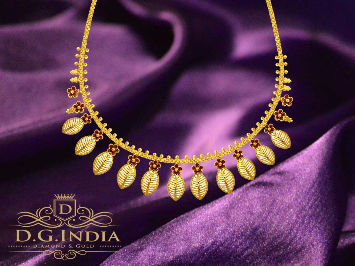 16.69 gram P.C. Chandra Jewellers 22KT Yellow Gold Necklace for Women