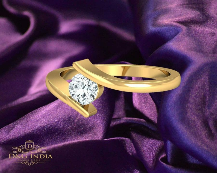 PN Gadgil Jewellers Solitaire Diamond Engagement Ring