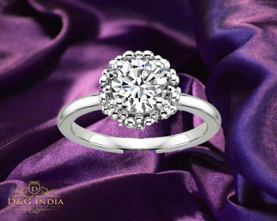1 carat White Gold Solitaire Diamond Ring for Women