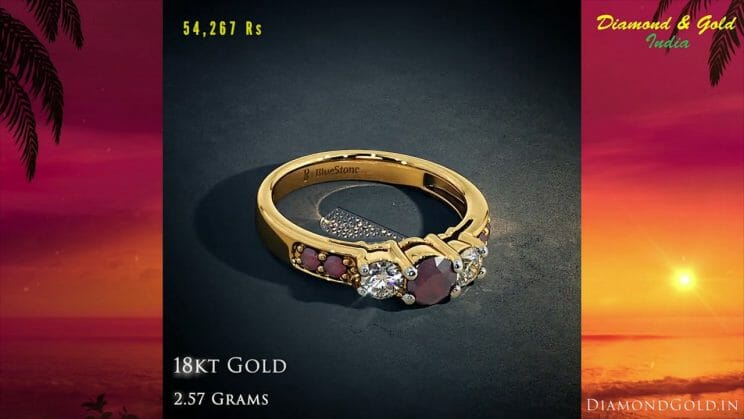 Diamond & Ruby Solitaire Ring Design