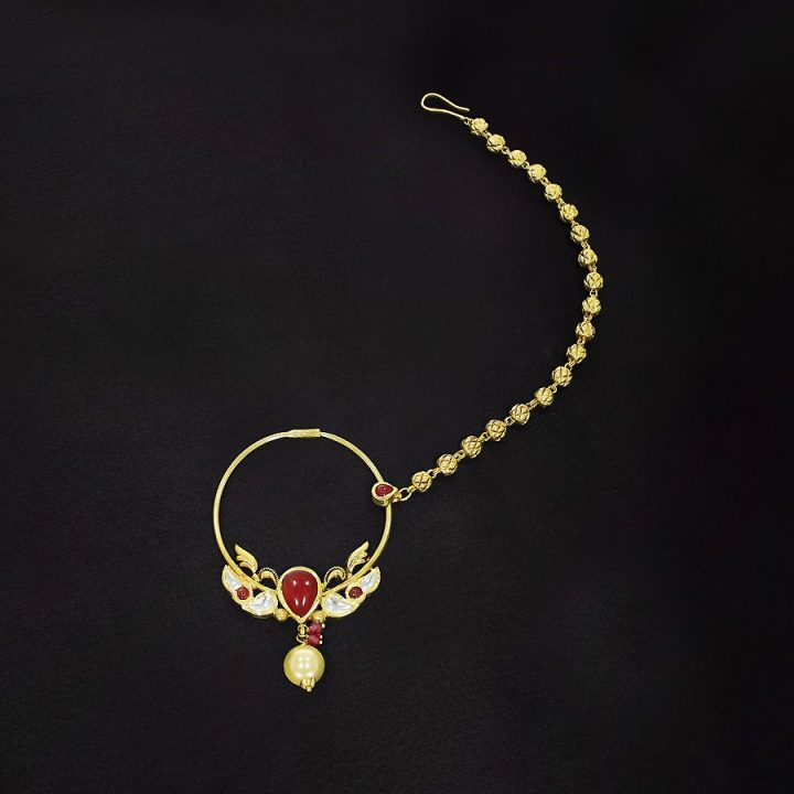 Latest Gold Nath Designs by Kalyan Jewellers